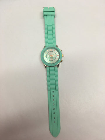 Mint Silicone Watch