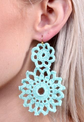 The Crochet Earrings 5 Colors Thepolkadotalley