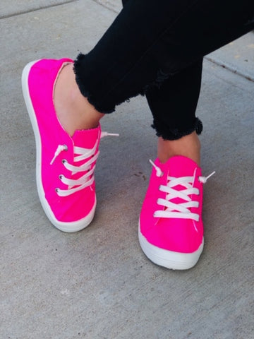 The Neon Pink Slouch Sneaks