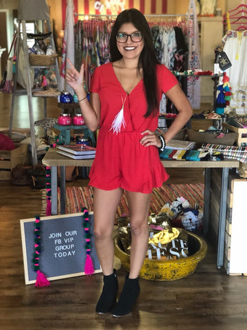 The Rush Red Romper