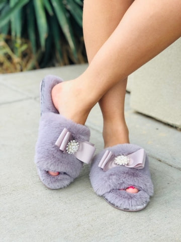 The Anya Mink Slippers
