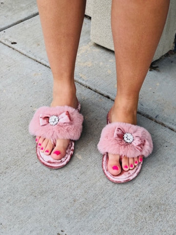 The Amelie Pink Slippers