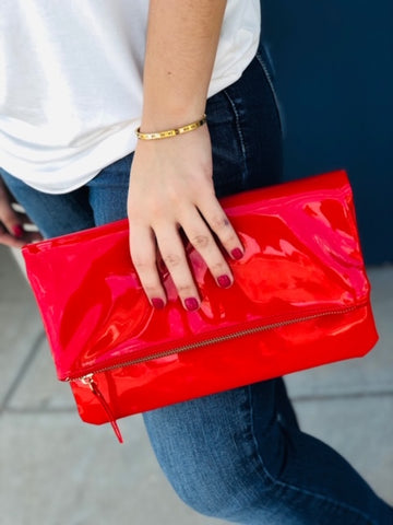 The Lansing Handbag in Red