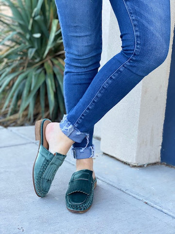 - The French Green Loafers