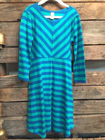 Blue/Green Striped Dress
