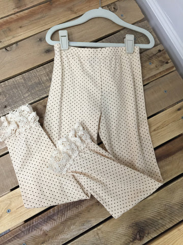 Ivory Brown Dot Pants