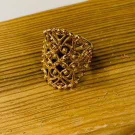 Brass Lace Ring