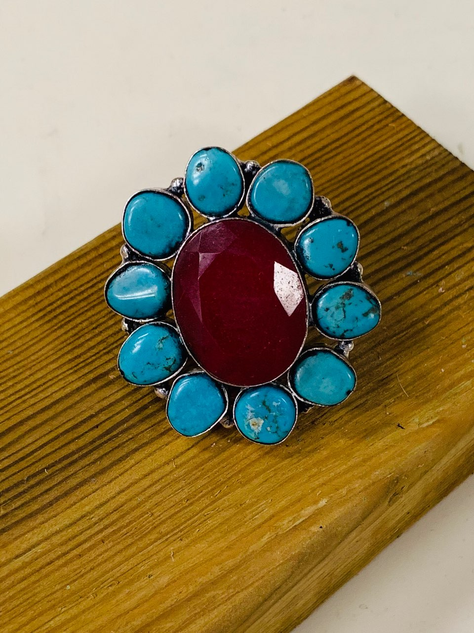 Ruby Turquoise Ring