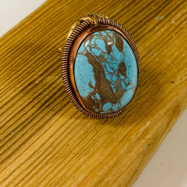 Turquoise Copper RIngs