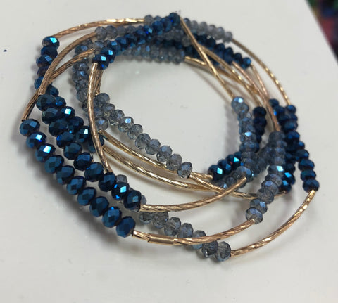 The Shades of Blue Wrap Bracelet