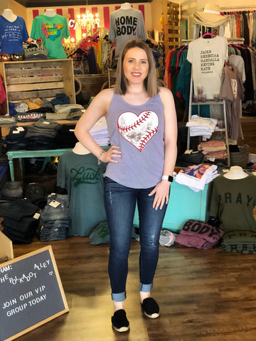 Dirty Heart Baseball Tank