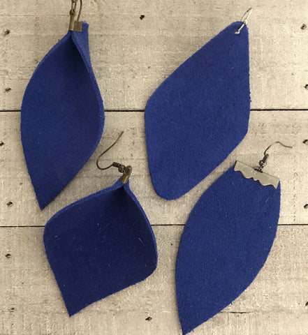 The Blue Kate Earrings-4 Shapes
