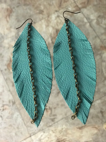 The Lorelei Leather Earrings