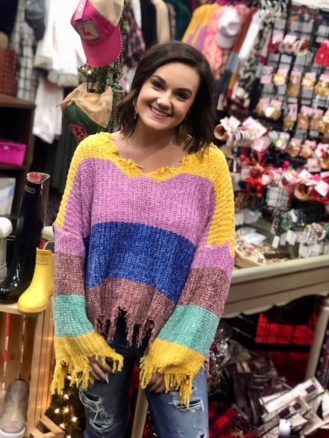 The Royal Fringe Sweater in ALL SIZES