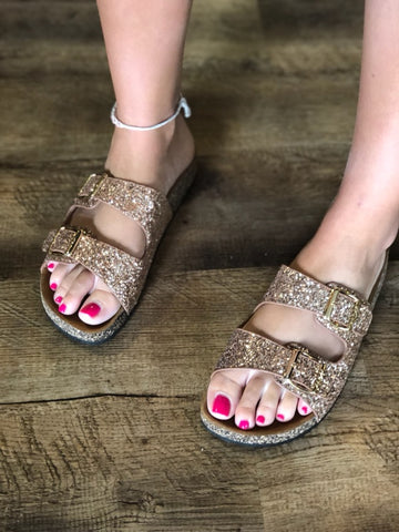 The Rose Glitter Stock Sandals