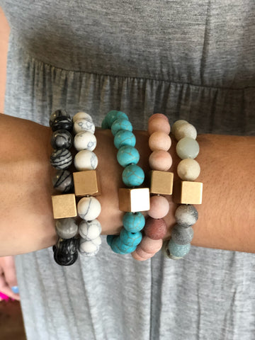 The Stone Stretch Bracelets-5 Colors