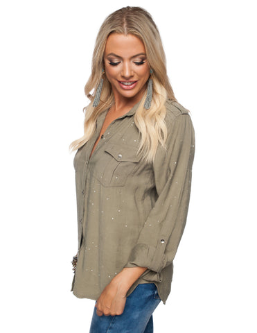 The Splattered Robin Top-2 Colors