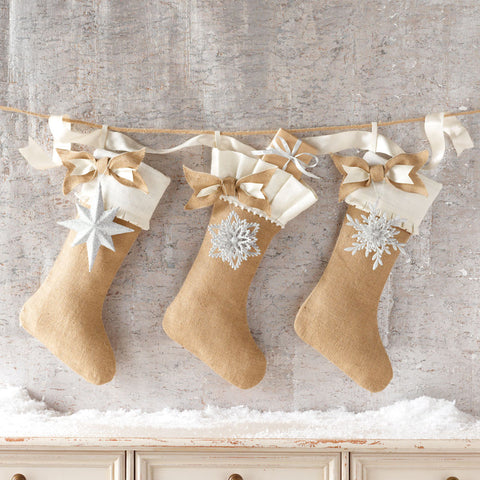 Burlap Ornament Stocking