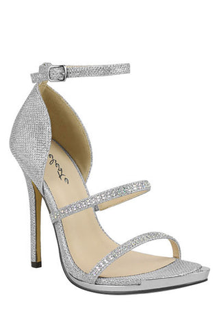 Silver Strappy Formal Heel