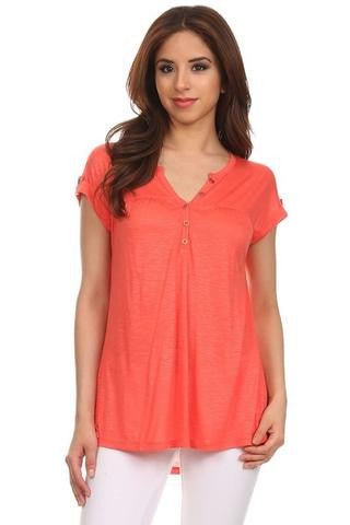The Summer Button Top-2 Colors
