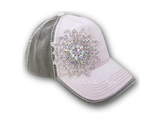Pink & Moss Bling Hat