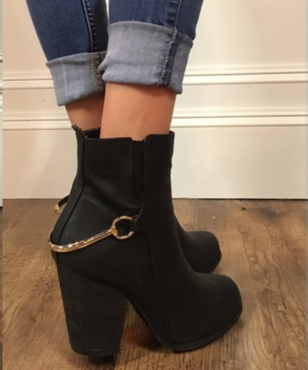 Gold Bar Ankle Boot