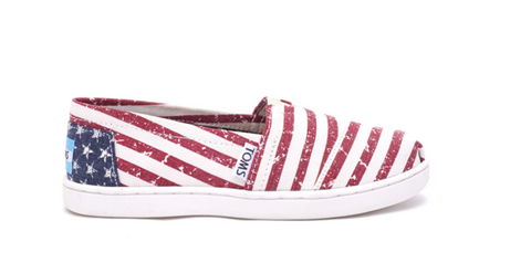 Americana Canvas Flag TOMS - Youth