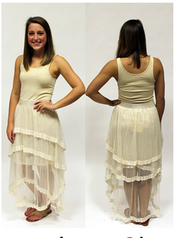The Lace Waterfall Skirt