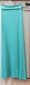 Plus Size Solid Maxi Skirt