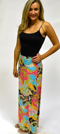 Lucy Love Spring Paisley Maxi Skirt