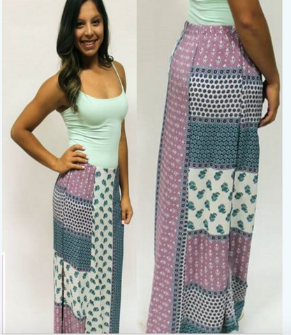 Lucy Love Purple Passion Maxi Skirt