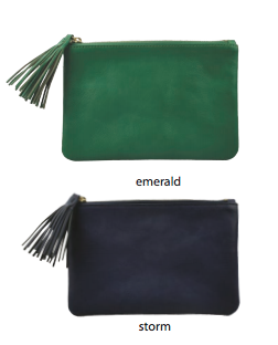 Nelly Small Leather Clutch