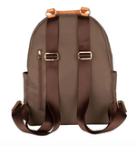 Brandy Nylon and Leather Backpack