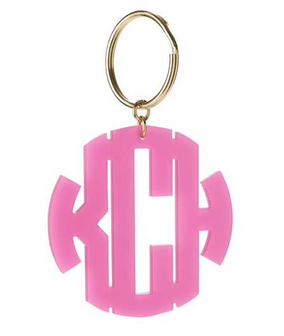 Monogram Keychain in Block