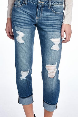 Famous Cropped Jeans