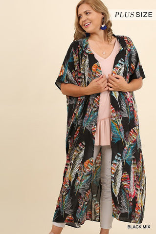 The Flocked Kimono-Plus