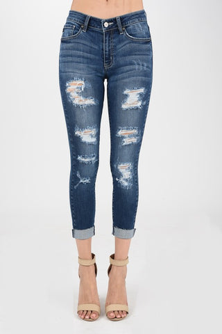 The Courtney Distressed Skinnies