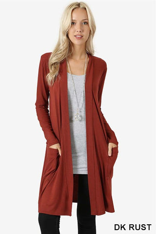 Pocket Cardigan-Lots of Colors