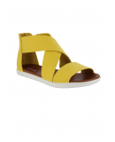 Deanna Wrap Sandals in Yellow