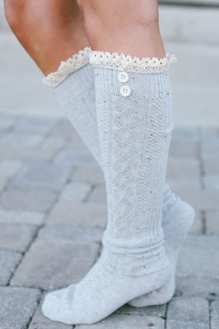 Speckled Boot Socks