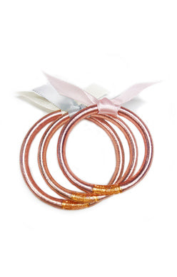 Budha Girl Baby Bangles in Rose