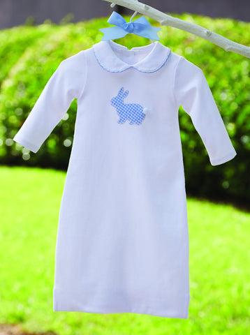 Blue Bunny Newborn Gown