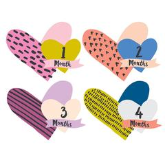 Heart Monthly Stickers