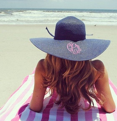 bf73600b85e Monogrammed Floppy Hats-6 Colors – thepolkadotalley
