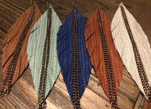 The Harvest Leather Feathers-5 Colors