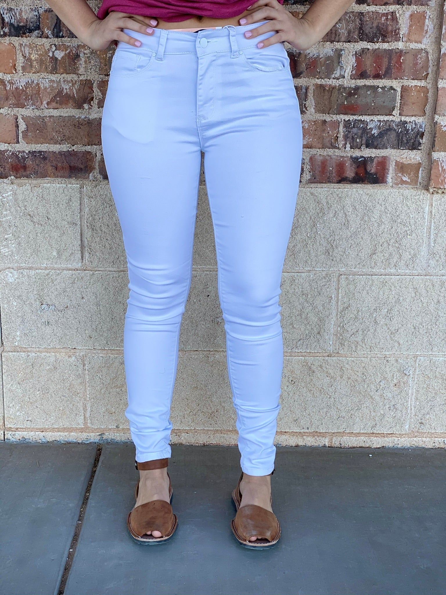 Wax White Ankle Skinnies