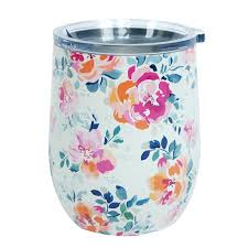 Floral Wine Glass-2 Colors