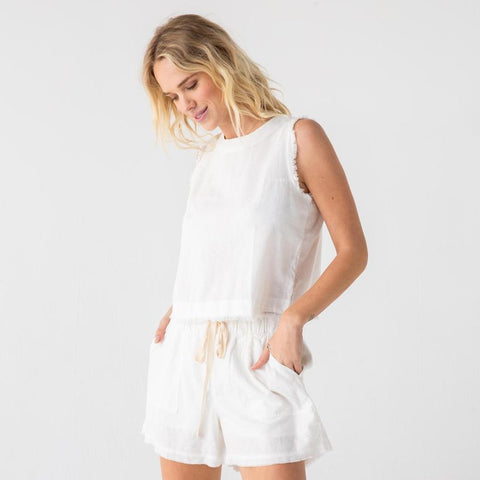 The Juniper Shorts in White