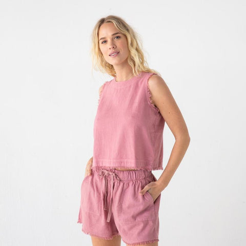 The Juniper Shorts in Mauve