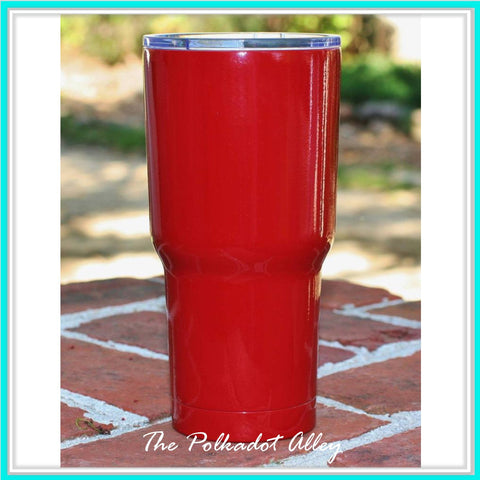 Powder Coated Tumbler-Red